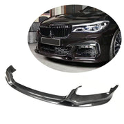 For BMW 7 Series G11 M Sport Sedan 16-19 Carbon Fiber Front Bumper Lip Chin Spoiler Body Kit