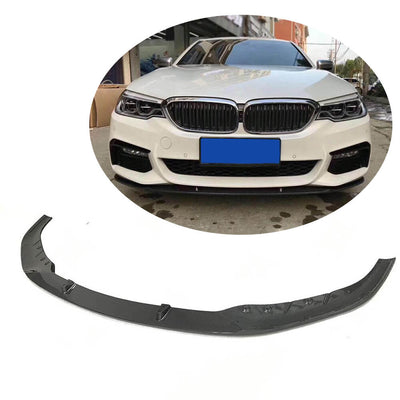 For BMW 5 Series G30 G31 M Sport 17-20 Carbon Fiber Front Bumper Lip Chin Spoiler Body Kit