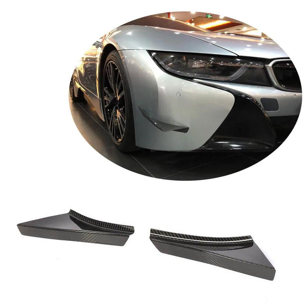 For BMW I8 Coupe 14-18 Carbon Fiber Front Bumper Air Fender Vent Fins