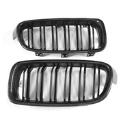 For BMW 3 Series F30 Sedan 12-18 Carbon Fiber Front Grille Frame Bumper Grill Outline Trim Decoration Emblem
