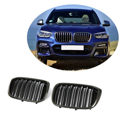 For BMW X3 G01 X4 G02 Sport Utility 18-20 Carbon Fiber Front Grille Frame Bumper Grill Outline Trim Decoration Emblem