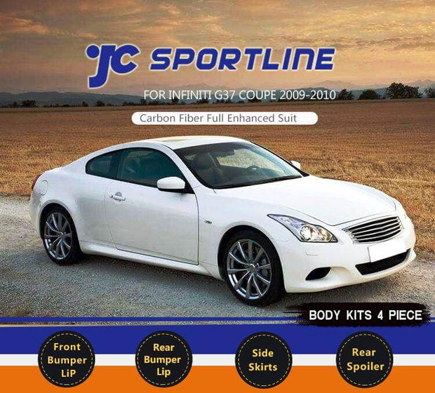 For Infiniti G37 Coupe 09-13 Auto Carbon Fiber Package Wide Body Kit