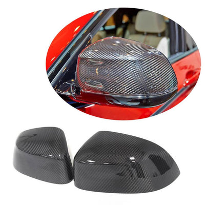 For BMW X3 F25 X4 F26 X5 F15 X6 F16 14-18 Carbon Fiber Rear Side View Mirror Cover Pair