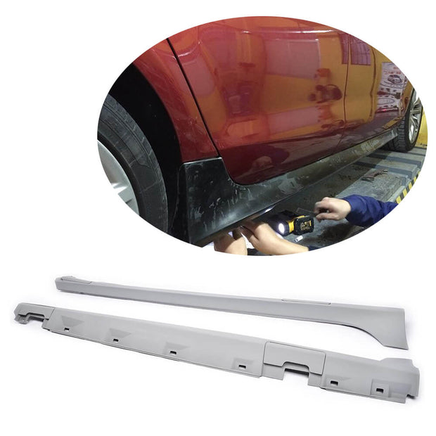 For Audi A7/A7 Sline/S7/RS7 Hatchback 11-14 PU Side Skirts Under Door Rocker Panels Extension Lip