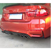 For BMW F80 M3 F82 F83 M4 14-19 Carbon Fiber Rear Bumper Diffuser Body Kit
