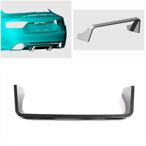 For Audi RS5 2-Door 12-16 Carbon Fiber Rear Bumper Canard Fender Vents