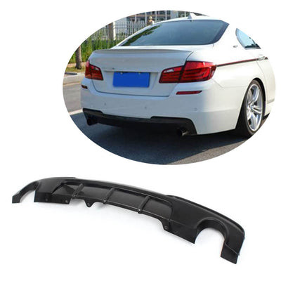 For BMW 5 Series F10 M Sport Sedan 12-16 Half Carbon Fiber Rear Bumper Diffuser Body Kit
