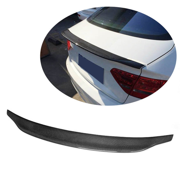 For Audi A5 B8 B8.5 Sline S5 Sportback 09-16 Carbon Fiber Rear Trunk Spoiler Boot Wing Lip