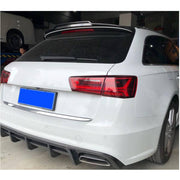 For Audi A6 C7 Base Wagon 15-18 Carbon Fiber Rear Roof Spoiler Window Wing Lip