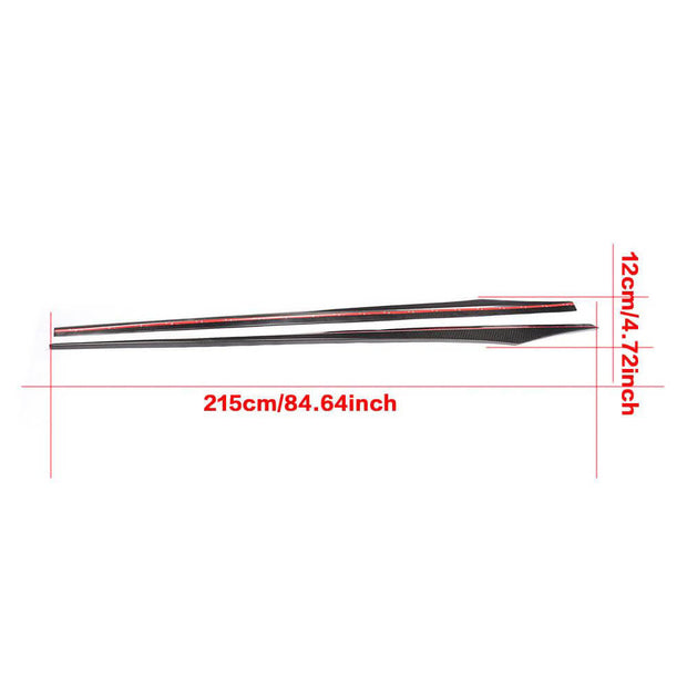 For BMW 6 Series F06 M Sport Gran Coupe 13-18 Carbon Fiber Side Skirts Door Rocker Panels Extension Lip