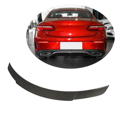 For Mercedes Benz C238 Coupe 17-21 Carbon Fiber Rear Trunk Spoiler Boot Wing Lip