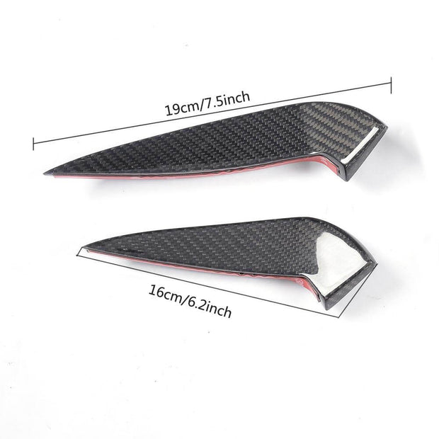 for Mercedes Benz W117 C117 Sport Sedan 17-19 Carbon fiber Front Bumper Air Fender Vent Fins