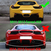 For Ferrari 458 Italia Coupe 11-13 Carbon Fiber Rear Trunk Boot Spoiler Wing Lip