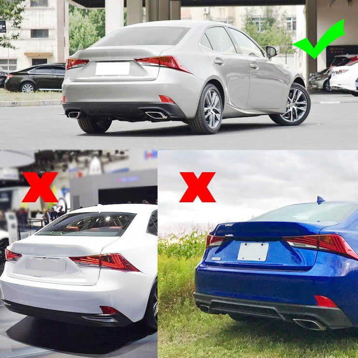 For Lexus IS300 IS350 Base / F Sport Sedan 17-20 Carbon Fiber Rear Bumper Diffuser