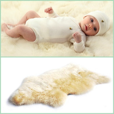 BOWRON SHEEPSKIN BABYCARE RUG (Long Wool)