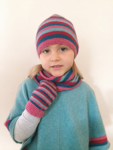 KIDS POSSUM-MERINO PONCHO