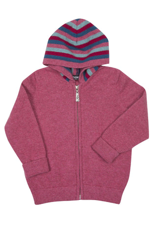 KIDS POSSUM-MERINO ZIP HOODY