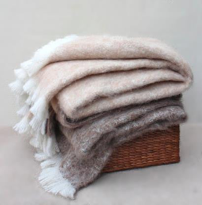 BRUSHED ALPACA THROW