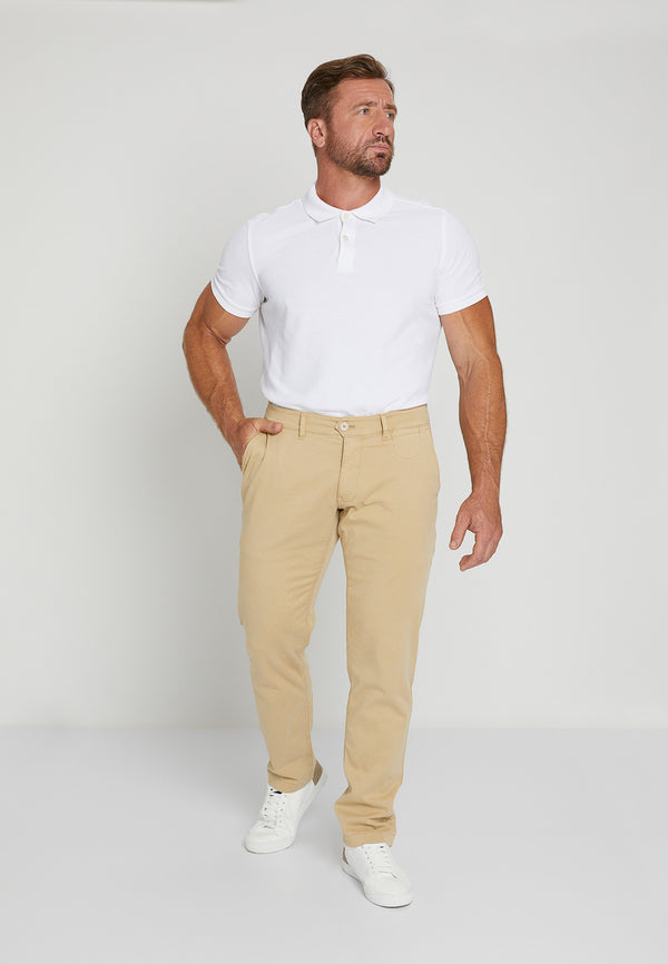 STRAIGHT FIT CHINOS - KHAKI