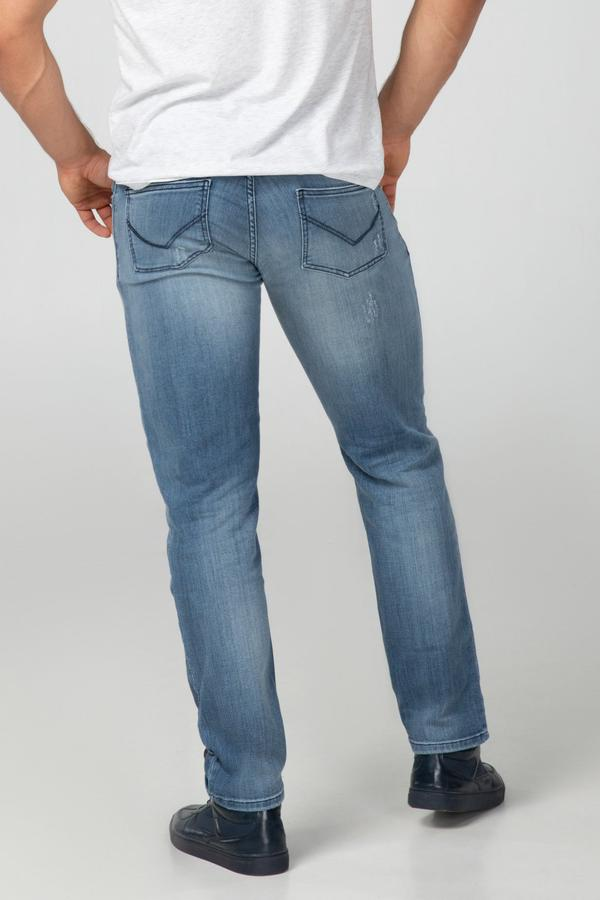 STRAIGHT FIT MEN'S JEANS - BRIGHT DESTROYED