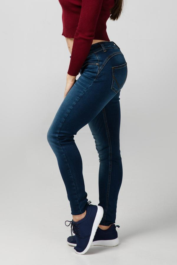 BODY FIT WOMEN'S JEANS - OCEAN BLUE DESTROYED