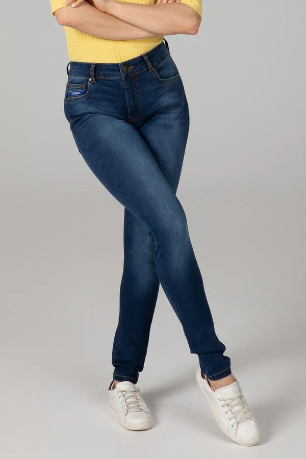 BODY FIT HIGH WAIST WOMEN'S JEANS - OCEAN BLUE