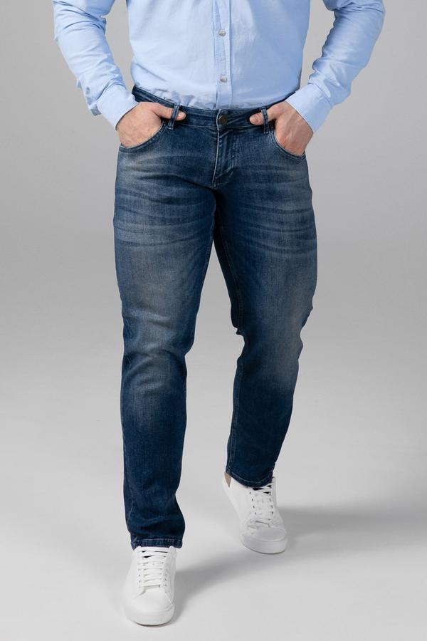 STRAIGHT FIT MEN'S JEANS - TRUE BLUE