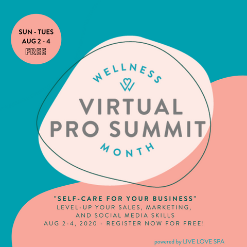 Wellness Month Virtual Pro Summit - self care for your business