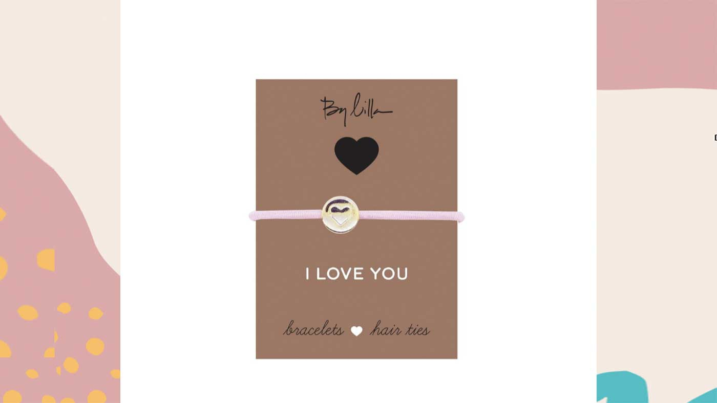 By Lilla I Love You Hair Tie