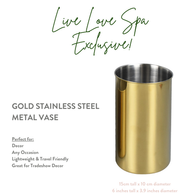 Gold Flower Vase - Live Love Spa Exclusive