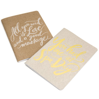 All I need is love and a good massage notebook | Scout Books