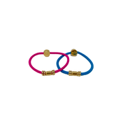 By Lilla Gold Barre Hair tie bright color