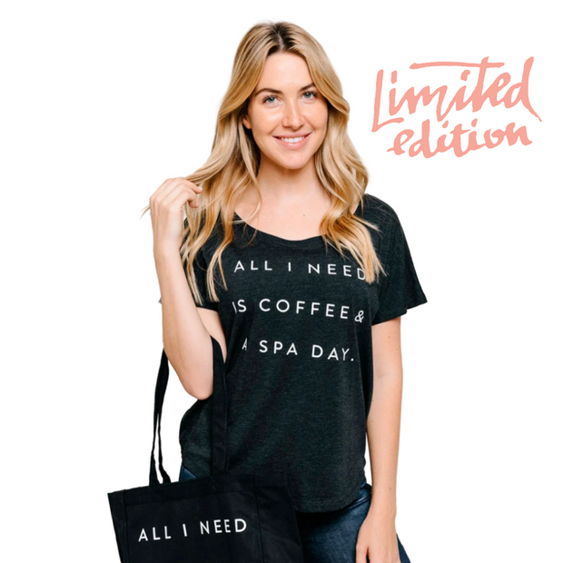 Limited Edition Promotion - Coffee and Spa Day dolman tee | Live Love Spa