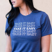 Take It Easy Unisex Crew Neck T-Shirt | Lucky Owl