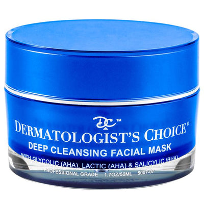 Deep Cleansing Facial Mask with AHA and BHA | Dermatologist's Choice