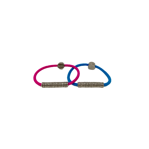 By Lilla disc silver bright hair tie