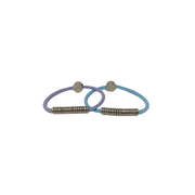 By Lilla silver disc pastel hair tie