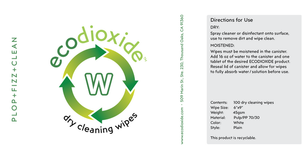 Dry+Wet Cleaning Wipes | Ecodioxide