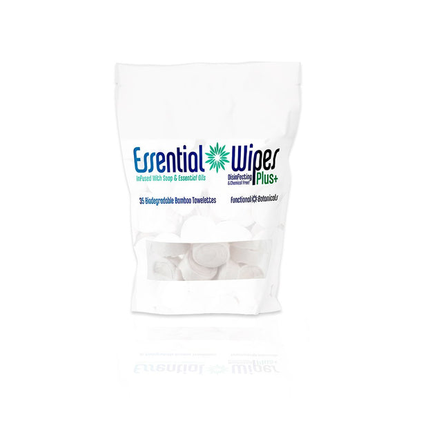 Essential Wipes Plus - Eco Pak (35 wipes) | Functional Botanicals