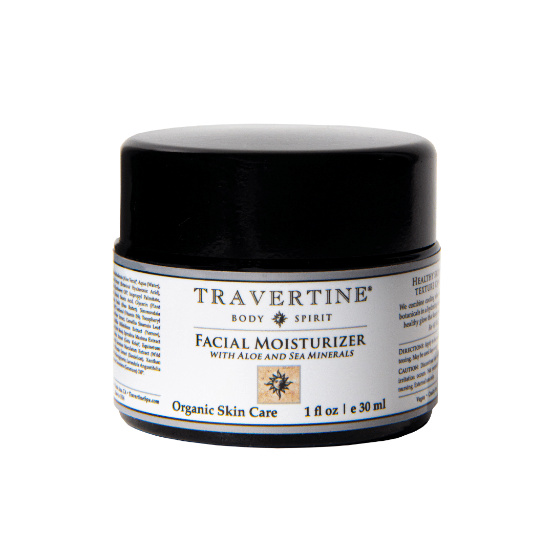 Facial Moisturizer (with Aloe and Sea Minerals) | Travertine Spa