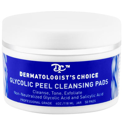 Glycolic Peel Cleansing Pads with glycolic and salicylic acid | Dermatologist's Choice