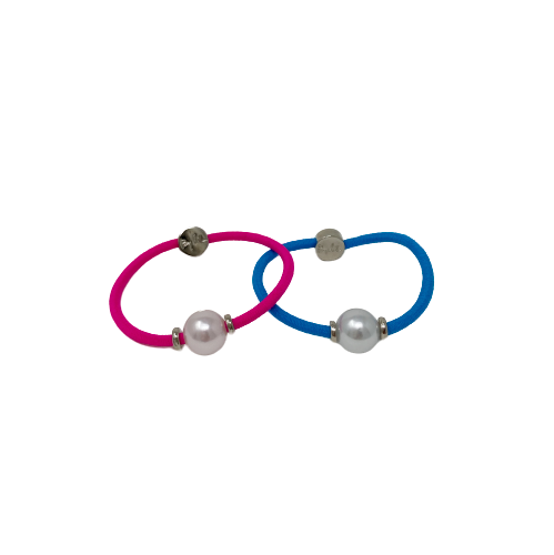 By Lilla Halo Silver bright color hair tie