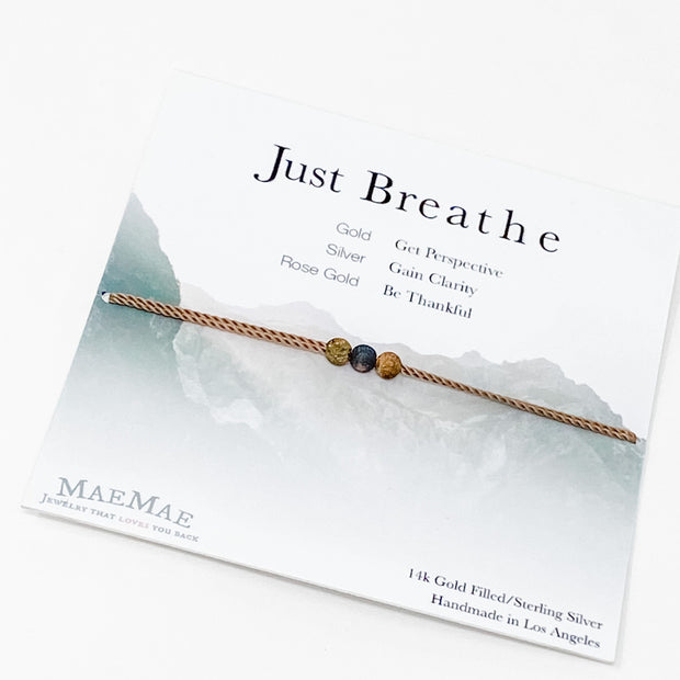 Just Breathe Bracelet | Mae Mae