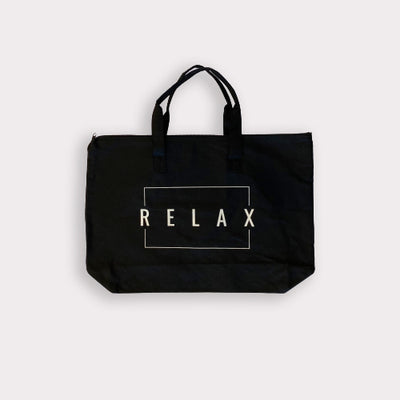 Relax Tote Bag w/ Zipper Top | Lucky Owl