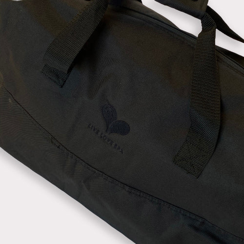 Limited Edition Live Love Spa Duffel Bag by Hex - Black with heart embroidery | Live Love Spa
