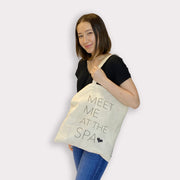 Meet Me at the Spa Tote - Natural Lightweight tote bag | Lucky Owl