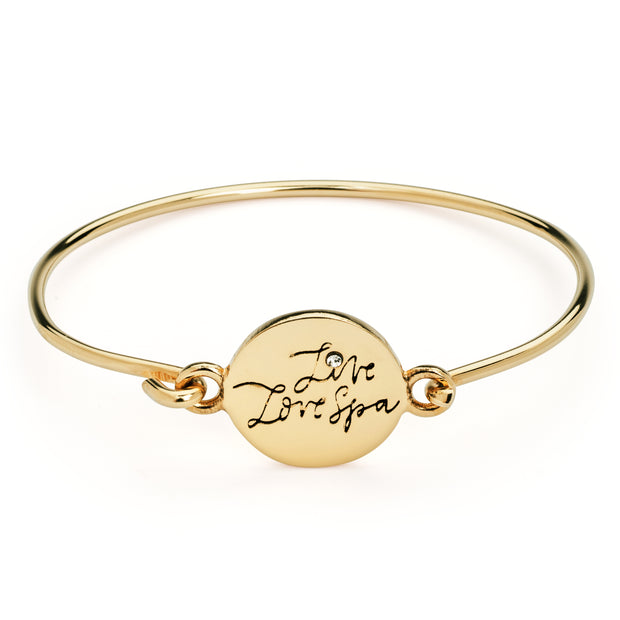Live Love Spa Gold Bangle | Live Love Spa