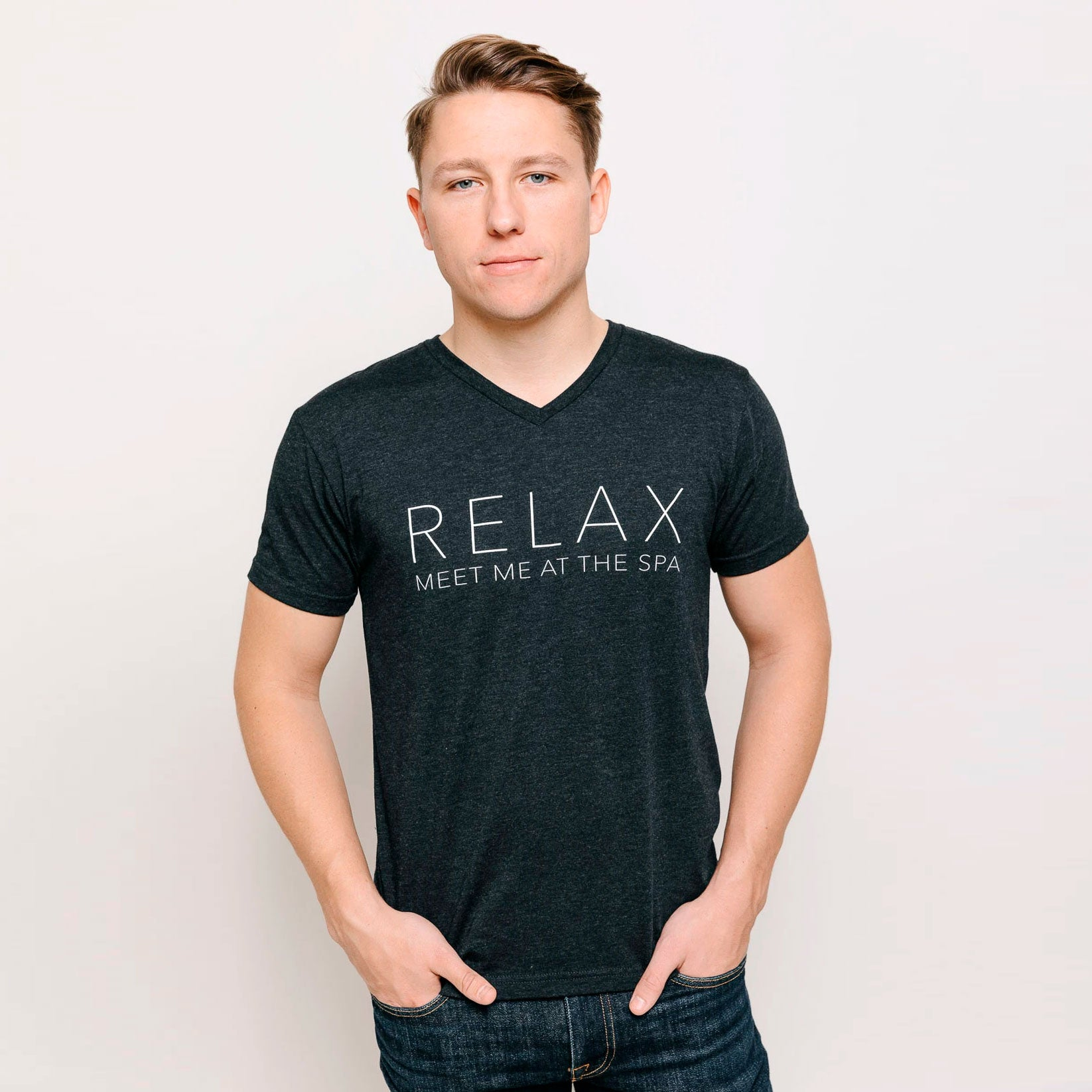 """Relax, Meet Me at the Spa"" Men's T-Shirt 