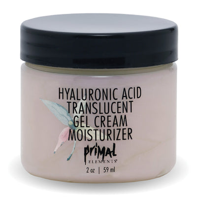 Hyaluronic Acid Translucent Gel Cream Moisturizer | Primal Elements