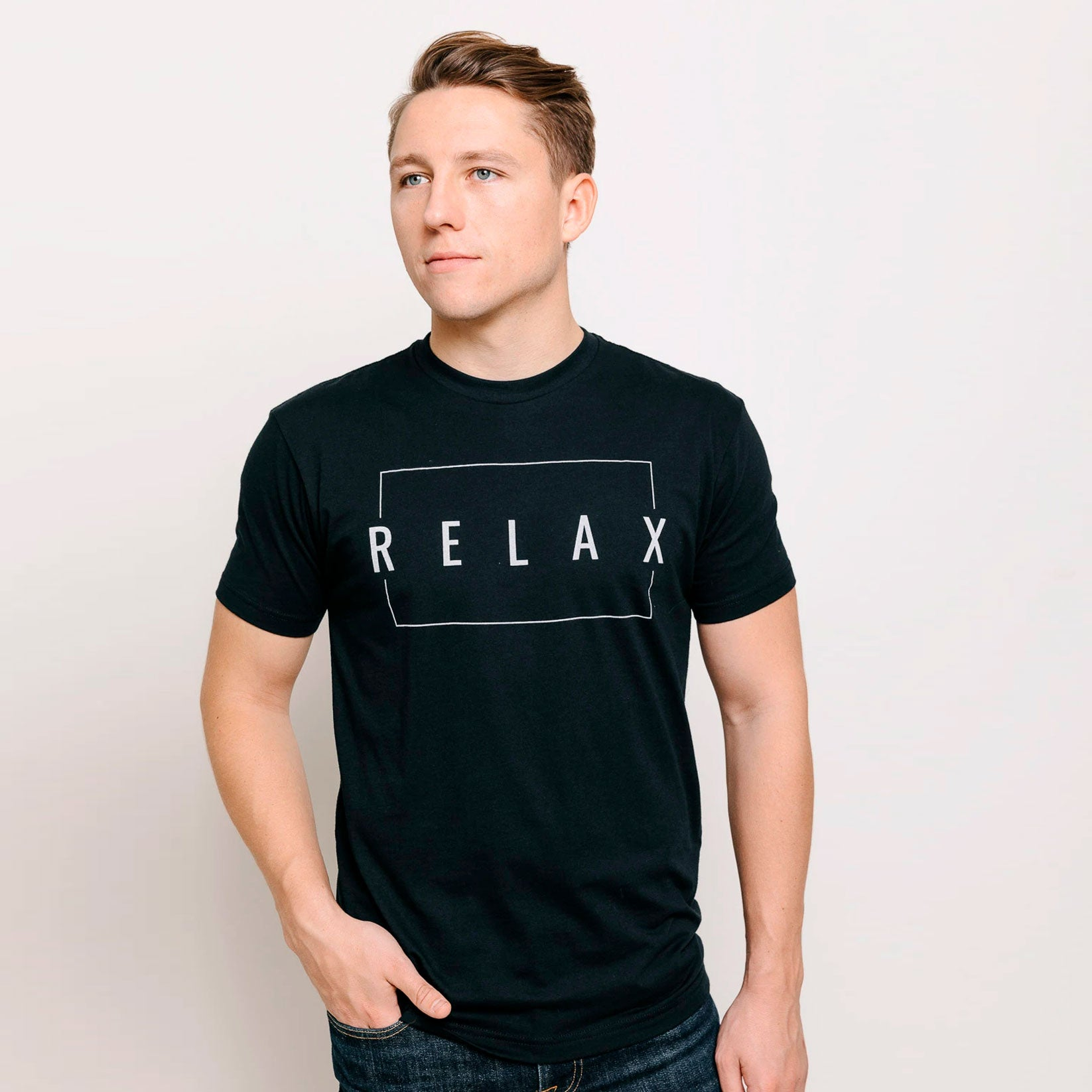 Relax Men's T-Shirt - Vintage Black | Lucky Owl